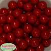 20mm Red Bubblegum Beads