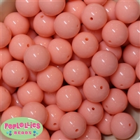 20mm Salmon Bubblegum Beads
