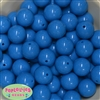 20mm Sky Blue Acrylic Bubblegum Beads