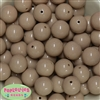 20mm Tan Acrylic Bubblegum Beads