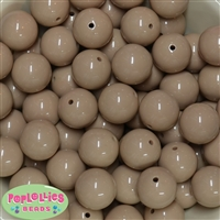 20mm Tan Bubblegum Beads