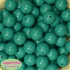 20mm Teal Acrylic Bubblegum Beads