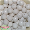20mm White Acrylic Bubblegum Beads Bulk