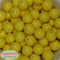 20mm Yellow Bubblegum Beads