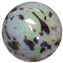 20mm White Splattered Miracle AB Acrylic Bubblegum Beads