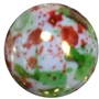 20mm Christmas Splattered Miracle AB Acrylic Bubblegum Beads