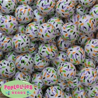 20mm Halloween Sprinkles Acrylic Bubblegum Beads
