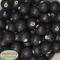 20mm Black Stardust Bubblegum Beads