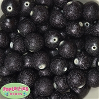 20mm Black Stardust Bubblegum Beads Bulk