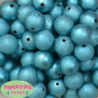 20mm Blue Stardust Bubblegum Beads