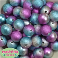 20mm jewel tone ombre Stardust Bubblegum Beads