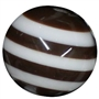 20mm Brown Stripe  Resin Bubblegum Beads