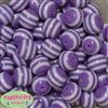 20mm Lavender Stripe Beads