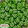 20mm Lime Stripe Resin Bubblegum Beads