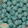 20mm Mint Stripe Resin Bubblegum Beads Bulk