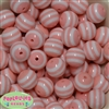 20mm Peach Stripe Beads