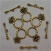 Gold Crown Toggle Clasps