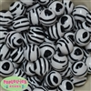 20mm Zebra Stripe Bubblegum Bead