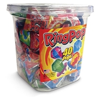 Ring Pops Assorted - 40/Jar