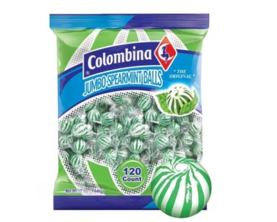 Jumbo Spearmint Balls - 120/bag