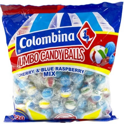 Jumbo Blue Raspberry and Cherry Balls - 120/bag