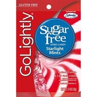 GoLightly Sugar Free Starlight Mints 2.75oz Peg Bag