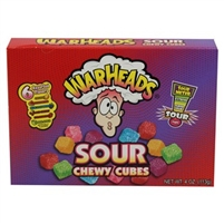 Warheads Sour Chewy Cubes Theater - 12/box