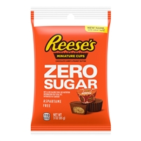 Reese's Sugar Free Mini Peanut Butter Cups 3.3oz Bag