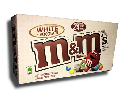 M&M's White Chocolate - 24/box