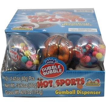 Kidsmania Dubble Bubble Sport Balls 12/box
