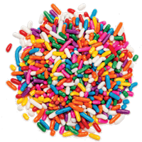 Rainbow Sprinkles - 25lb/case