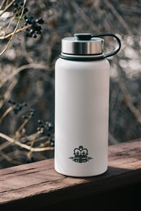 32 oz Double Wall Wide Mouth Flask - White