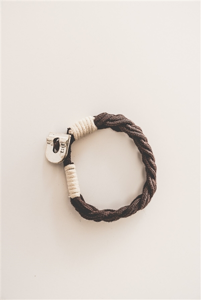 Eco-friendly Cotton Braided Bracelet - Brown