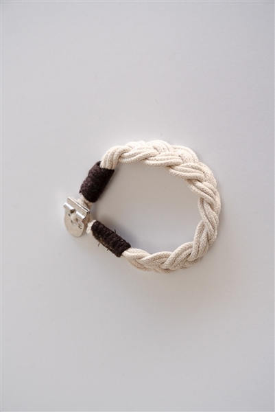 Eco-friendly Cotton Braided Bracelet - Ivory
