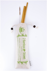 2-Pack TCHi::TCHA Eco-friendly Reusable Straws & Travel Bag