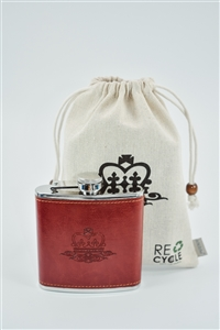 TCHi::TCHA Vegetable tanned Leather-Wrapped Hip Flask