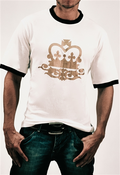 Organic Cotton Performance Crown Graphic T-Shirt - White