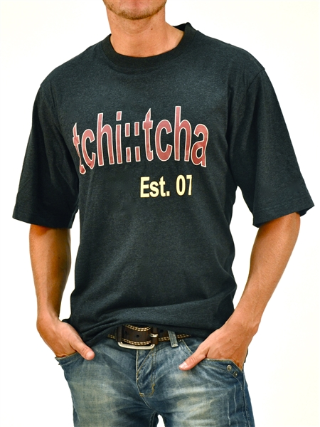 Organic Cotton Graphic TCHi::TCHA Est. 07 T-Shirt  - Black