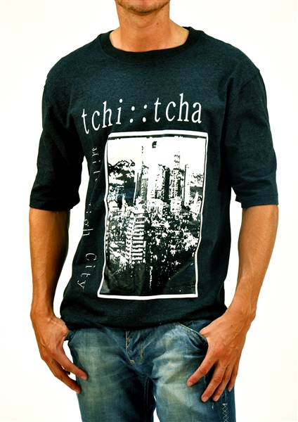Organic Cotton Graphic MILE HIGH CITY T-Shirt  - Black