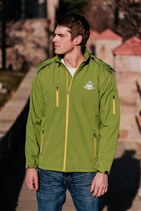 Men's Mountain Hooded Eco-friendly Jacket - Lime Green