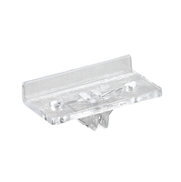 Intermediate Front Shelf Rest  (For KV 160, 161, 170, 180 Brackets) - Clear Plastic