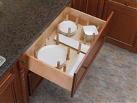 Drawer Peg Board System with Wood Pegs