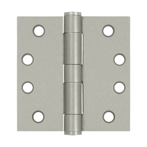 "4"" x 4"" Full Mortise Standard Weight Plain Bearing Butt Hinges"