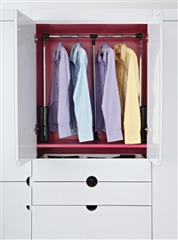 Rev-A-Shelf Side Mount Wardrobe Lift