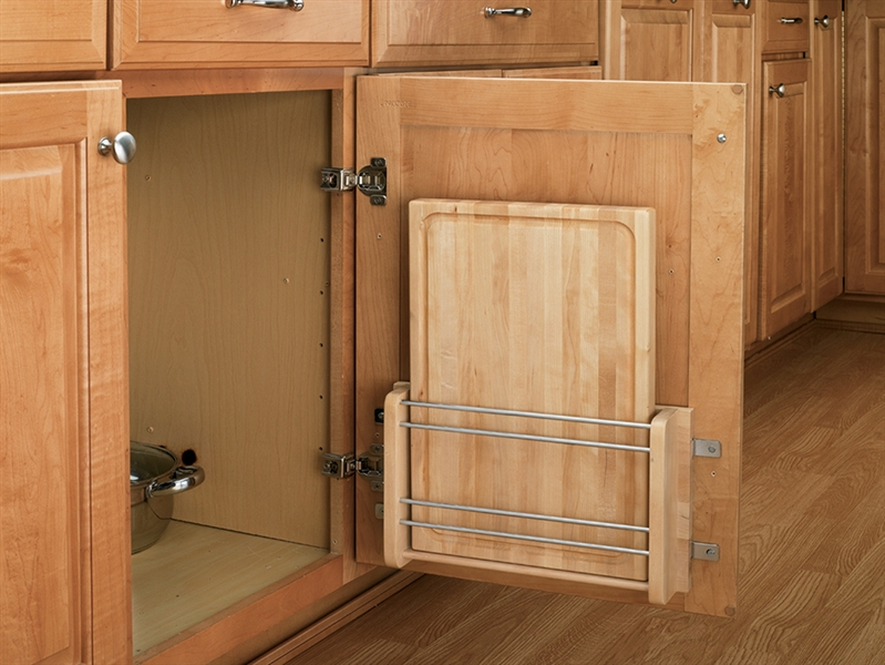 Wood Classics Door Storage Cutting Board Rack with Cutting Board & Classics Door Storage Cutting Board Rack with Cutting Board