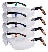 Wrap Around Safety Mag Diopter Glasses w/ Adjustable Arm