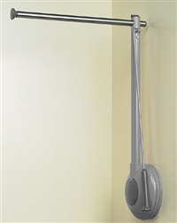 "Tallman Single Rod Wardrobe Lift (31-1/2"") - Grey"