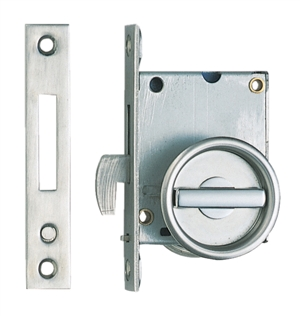 Sliding Door Latch (Recessed Lever) - Stainless Steel