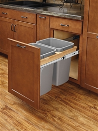 Don T Just Take The Trash Out Noise Of Your Kitchen With These Top Mount Pullout Waste Containers Soft Close Beautiful Wood