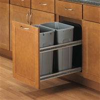Double Soft-Close Undermount Waste Bins